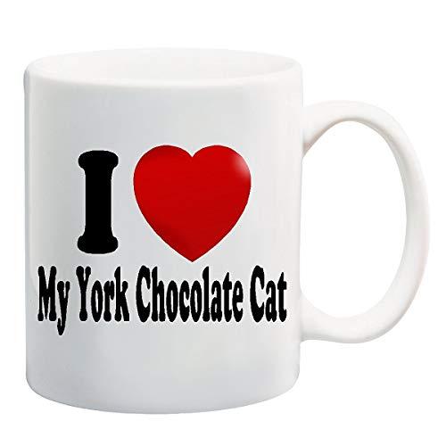 Ik hou van mijn York Chocolade CAT Mok Cup - 11 Ounces