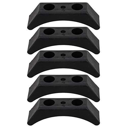 WINOMO 5 soportes para mancuernas en casa, entrenamiento en el gimnasio, herramienta de fitness, color negro