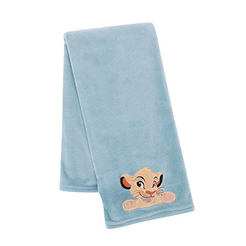 Lambs & Ivy Lion King Adventure Baby Blanket, Blue