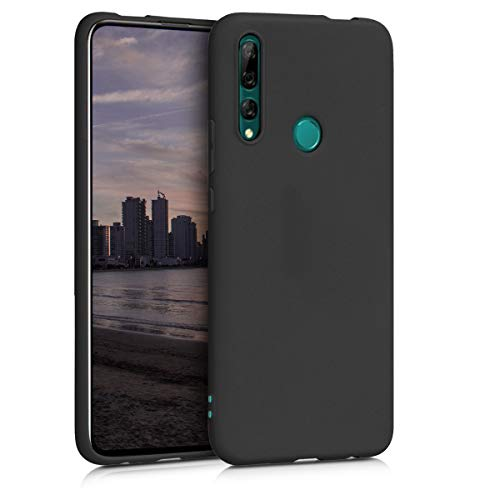 kwmobile TPU Case Compatible with Huawei Y9 Pr. (2019) - Case Soft Thin Slim Smooth Flexible Phone Cover - Black Matte