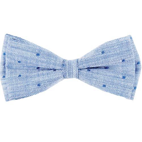 Stan Dar Set Fliege & Einstecktuch denim blue Dots