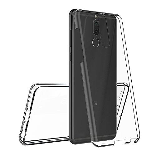 AICEK Huawei Mate 10 Lite Hülle, 360°Full Body Transparent Silikon Schutzhülle für Huawei Mate 10 Lite Case Crystal Clear Durchsichtige TPU Bumper Huawei Mate 10 Lite Handyhülle (5,9 Zoll) - 3