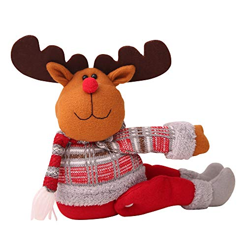Christmas Decoration IEason New Cartoon Doll Curtain Buckle Window Decoration Christmas Gift Home Decors (B)