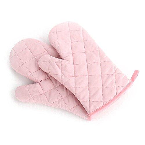 Handschuhe - TOOGOO(R) 1 Paar Kueche Handwerk hitzebestaendige Handschuhe Baumwolle Topflappen Kochen Backen Topf Halter rosa