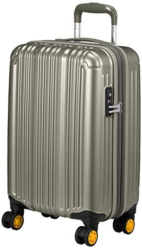 [ビータス] スーツケース ファスナー エキスパンダブル TSAロック ダブルキャスター 1年修理保証 機内持ち込み可 保証付 32L 48 cm 2.8kg シルバー