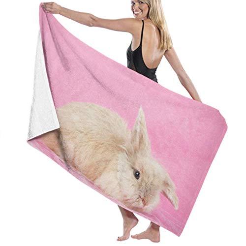 Sheep Toalla de baño de microfibra súper suave toalla de baño un conejo de Pascua joven en alta absorción de agua, multiusos 80 cm130 cm para baños