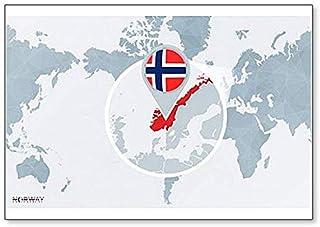 Cartina Norvegia Da Stampare.Amazon It Cartina Geografica Norvegia