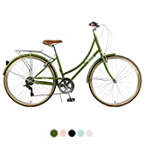 Retrospec Beaumont-7 Seven Speed Lady's Urban City Commuter Bike, Olive, 38cm/Small
