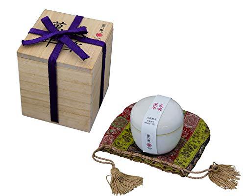 高級 煎茶 長楽萬年 大和茶 赤膚焼器 木箱入り 奈良県月ヶ瀬産 お茶 茶葉 50g