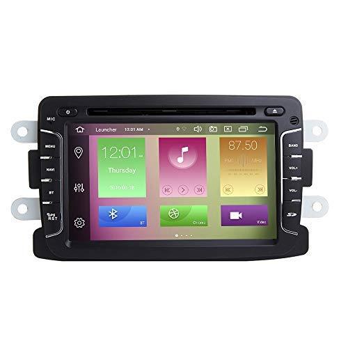 "BOOYES Für Dacia Logan Dokker Duster Sandero Lodgy & Renault Captur Symbol Android 10.0 Octa Core 4 GB RAM 64 GB ROM 7\""Auto DVD-Player Multimedia-GPS-System Autoradio Stereo Double Din"