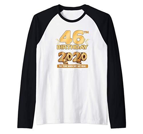 46th Birthday Quarantined 2020 Gift Limited Born in 1974 Raglan Baseball Tee