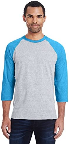 Hanes Unisex X Temp Cotton Performance Baseball Tee Blue S product image