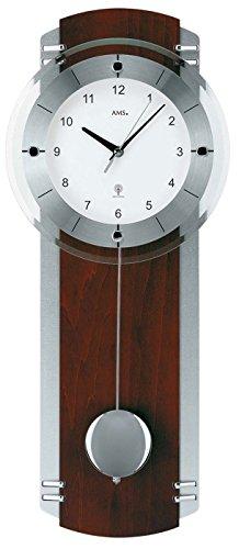 AMS Funk Pendeluhr, Holz, Mehrfarbig, 73 x 31 x 18 cm