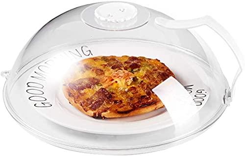 Cubierta de microondas con mango, cubierta de salpicadura de microondas para alimentos, cubierta de placa de microondas , antisalpicaduras con rejillas de vapor mantiene limpio el horno de microondas