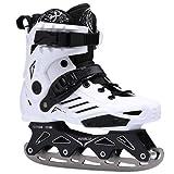 ME-Rollerns Patines de Velocidad en línea, Zapatos, Patines de Hockey, Zapatillas, Patines, Patines para Adultos, Patines en línea IceSkateWhite 36