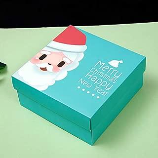 Box Christmas Apple Box Snack Box Paper Box Wholesale Christmas Eve Gift Box 5pcs (Green Set)