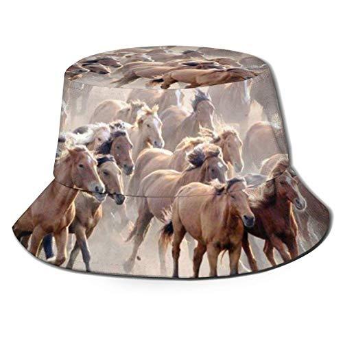 Sombreros de Cubo Transpirables con Textura de Animal de Caballo, Sombrero de Cubo de fórmula matemática Unisex, Sombrero de Pescador de Verano