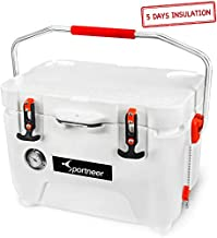 Sportneer 25 Quart Cooler Ice Chest with Built-in Thermometer for Road Trip, Camping, Picnic, BBQ, Fishing, Hunting, Bear Resistant and Zero Leakage