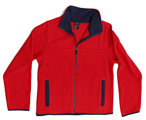 At The Buzzer 98502-RED-4-5 Polar Fleece Boys Jacket - Solid