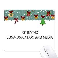 コミュニケーションとメディア研究の引用 ゲーム用スライドゴムのマウスパッドクリスマス