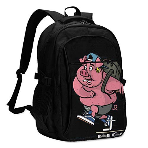 XCNGG Pig Skater Personalized Customization Fashionable with USB Charging Backpacks