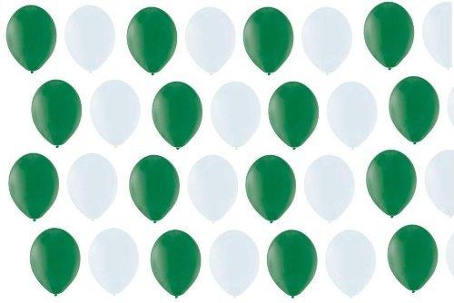 BUDILA® 20 Luftballons grün-weiss