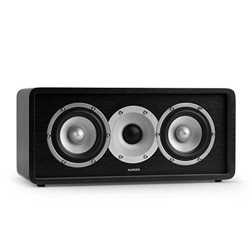 NUMAN Retrospective 1979 C - Center Lautsprecher, Center Speaker, Center Box, HiFi Lautsprecher, 2-Wege-Lautsprecher, integrierte Schallführung, MDF-Gehäuse, vergoldete Kontake, schwarz