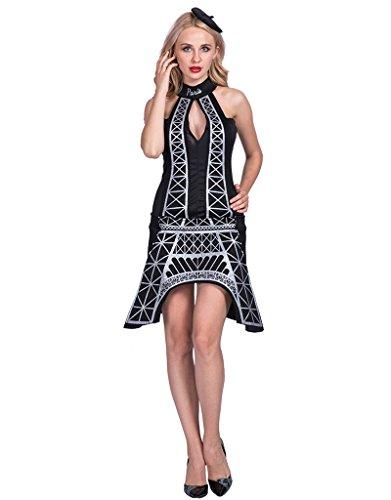 EraSpooky Mujer Torre Eiffel de Halloween Conjunto de Disfraces de Pars Romntico