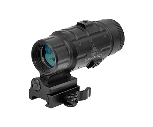 UTG 3X Magnifier with Flip-to-side QD Mount, W/E Adjustable (Renewed)