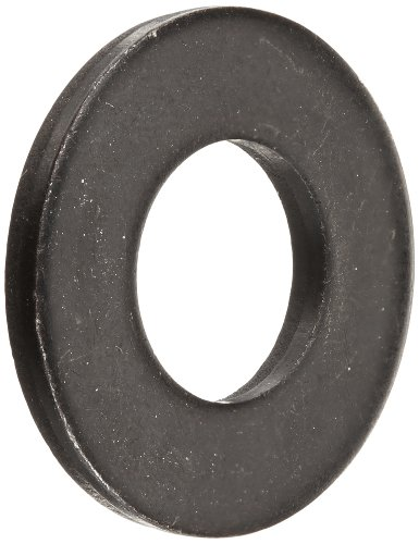 Steel Flat Washer, Black Oxide Finish, ASME B18.22.1, 1/2