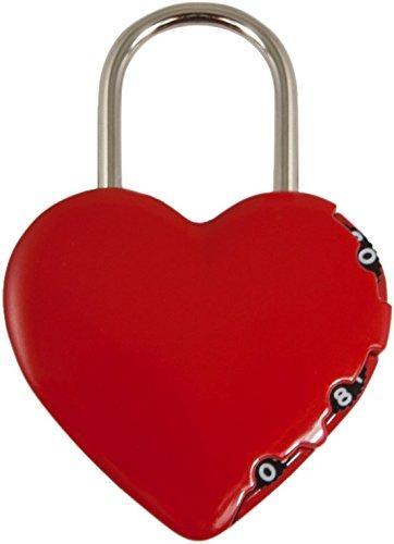 Stanley Liebesschloss Vorhangschloss in Herzform (zum Beschriften geeignet, 3-stellig, Bügelschloss, Herzschloss Herz Vorhängeschloss) S742-065
