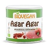 Biovegan Bio Agar Agar - Gelineador vegetal puro para mermeladas, tartas y pino, sin gluten y vegano