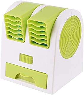 Queta - Miniventilador de aire acondicionado para el hogar, interior, cocina, al aire libre