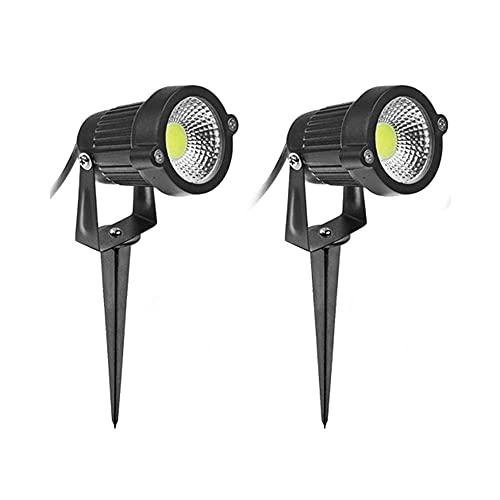 Lumières Solaires De Jardin 2 Pack 5 W 500-550 Lumen Spike Outdoor Lights, Spot Étanche Ip65, Led Landscape Lights Lumière Décorative, Pour Patio Yard Pathway