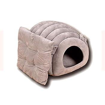 Weimay Maisons et Dômes pour Chats, Extérieur Portable Foldable Dog Room Lit pour Chat, Doux Maison d'animal Familier, Maison Niche pour Chien Chat avec Coussin Amovible