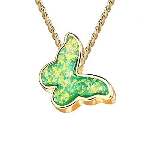 FGFDHJ Collares con Colgante de Mariposa para Mujeres y niñas, Collar Dulce Brillante, Gargantilla Elegante, Regalo de Verano