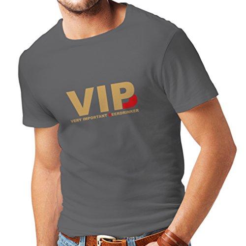 lepni.me Camisetas Hombre Bebedor de Cerveza Muy Importante - Alcohol, Borracho, Citas Divertidas para Beber - Ideas de Regalos chistosos, Ropa de Bar o de Fiesta (XX-Large Grafito Oro)