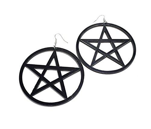 Hemore Ladies Pentagram Earrings Gift Idea for Her Girlfriend Mother Daughter Glitter Crystal Earrings Women