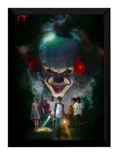Quadro Arte It A Coisa Stephen King Filme Poster Moldurado