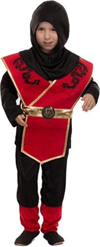 Brandsseller Jungen Kostüm Verkleidung Fasching Karneval Party - Ninja, S