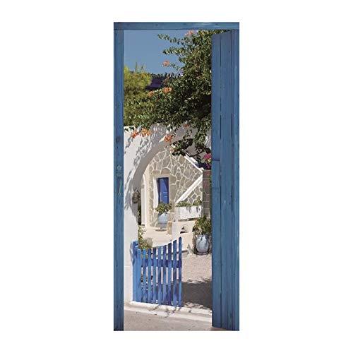 Trompe l' oeil Porta Adesivo 141051Decorazione da Parete, polyvinyle, Multicolore, 83x 0,1x 204cm