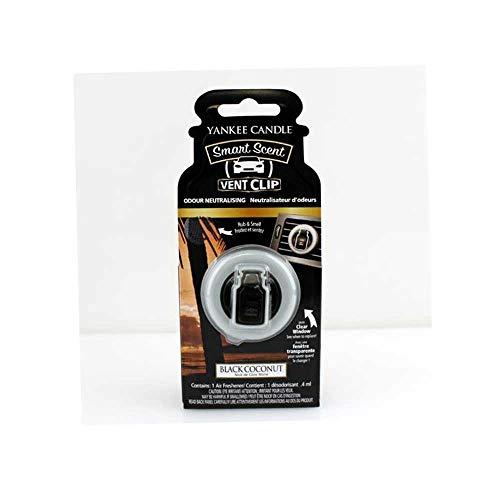 Yankee Candle 1525136E Deodoranti per Auto, Smart Scent Vent Clip, Black Coconut