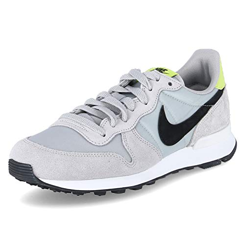Nike Damen WMNS Internationalist Leichtathletik-Schuh, Grey Fog/Black-Lemon Venom-Summit White, 40 EU