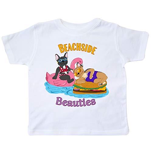 inktastic Beachside Beauties Cute French Bulldogs Toddler T-Shirt 2T White 36c77