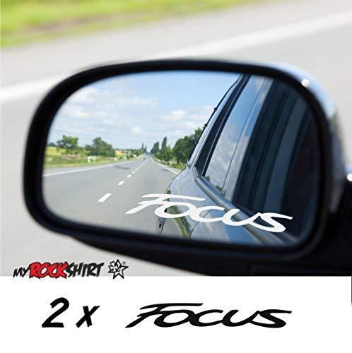 myrockshirt 2 x Aufkleber aus Milchglasfolie kompatibel für Ford Focus Frost Gravuroptik Gravur Sticker Aussenspiegel Spiegel Aufkleber Autoaufkleber Sticker Hochleistungsfolie von
