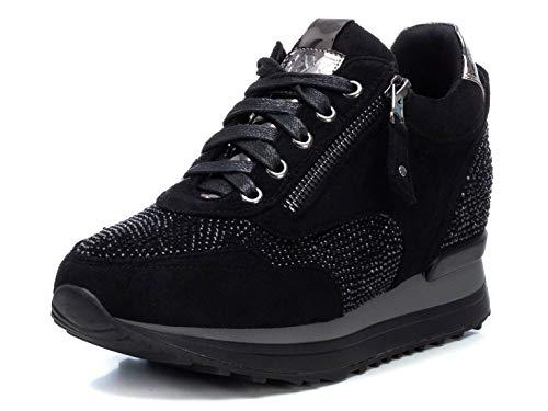 Xti - Zapatilla Para Mujer - Cierre Con Cremallera - Color Negro - Talla 41