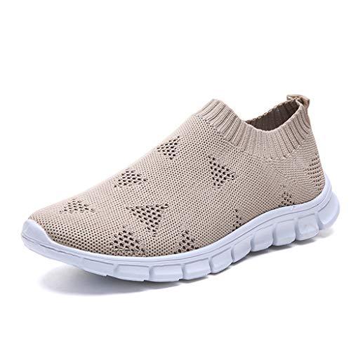 Damen Outdoor Mesh Slip On Socken Schuhe, i-uend Frauen Laufen Atmungsaktive Schuhe Turnschuhe Bequeme Wanderschuhe Leichte Tennis Athletic Jogging Schuhe