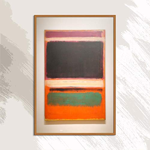 Mark Rothko Abstracte Amerikaanse kunst druk frameloze olieverfschilderij spray canvas waterdichte airbrush vierkante posterkunst 40x60cm