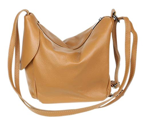 Girly HandBags Womens 2 in 1 Backpack Shoulder Bag - Tan
