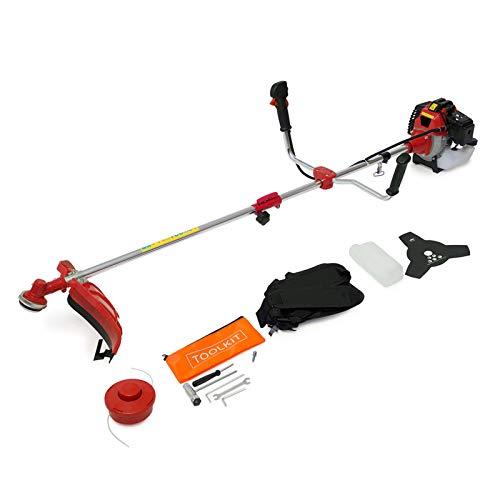 Wolf PowerKing Big Horn 52cc Petrol 2in1 Grass Trimmer Brush Cutter Garden Multi Tool 1.6HP Recoil Start